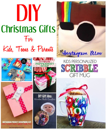 Best ideas about DIY Kid Christmas Gifts . Save or Pin DIY Christmas Gift Ideas For Kids Teens & Parents Now.