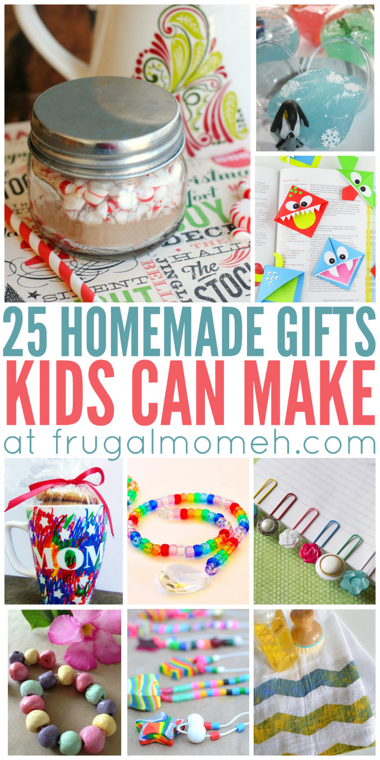 Best ideas about DIY Kid Christmas Gifts . Save or Pin Homemade Gifts That Kids Can Make Frugal Mom Eh Now.