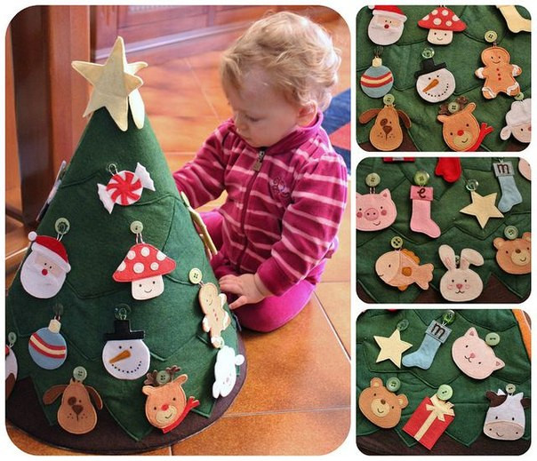 Best ideas about DIY Kid Friendly Christmas Ornaments . Save or Pin Wonderful Kids crafts DIY Felt Christmas Tree Now.