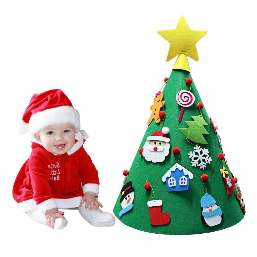 Best ideas about DIY Kid Friendly Christmas Ornaments . Save or Pin 3D DIY Felt Christmas Tree Toddler Friendly Christmas Tree Now.