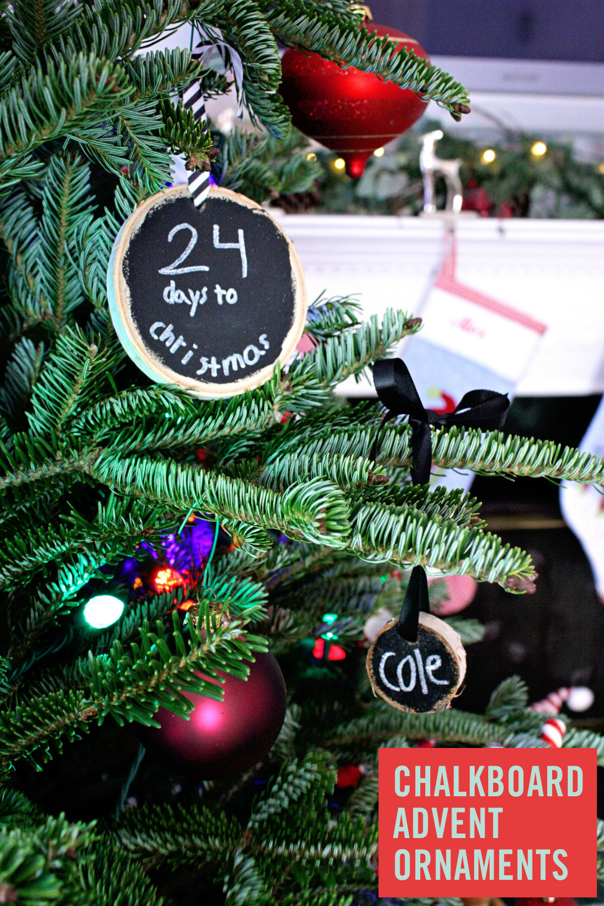 Best ideas about DIY Kid Friendly Christmas Ornaments . Save or Pin Kid Friendly DIY Chalkboard Advent Ornaments Now.