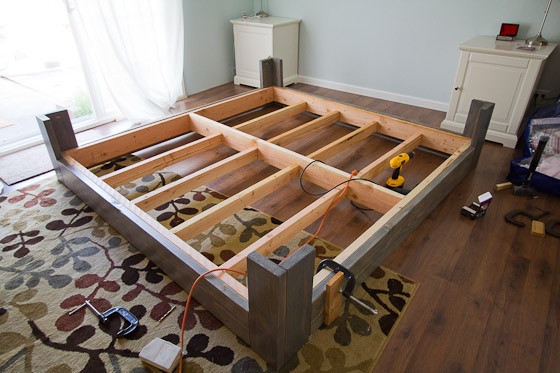 Best ideas about DIY King Bed Frame Plans . Save or Pin DIY Bed Frame Plans Now.