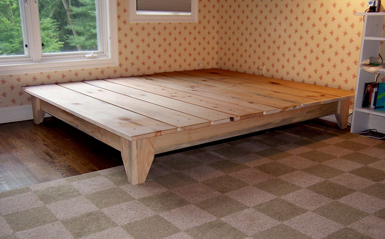 Best ideas about DIY King Bed Frame Plans . Save or Pin Unique Rustic Platform Bed Frame King With Cool Design Now.