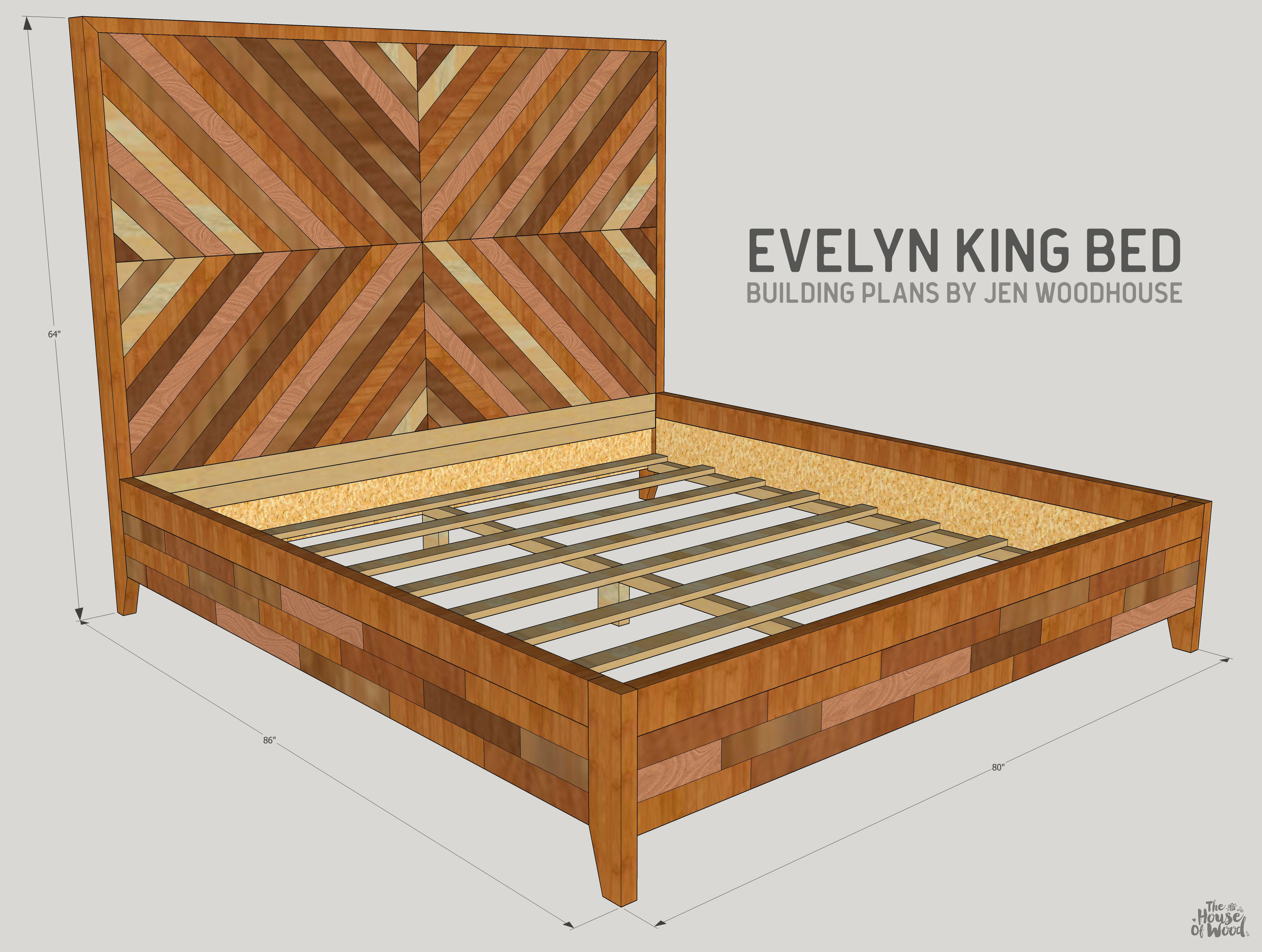 Best ideas about DIY King Bed Frame Plans . Save or Pin DIY West Elm Alexa Chevron Bed Now.