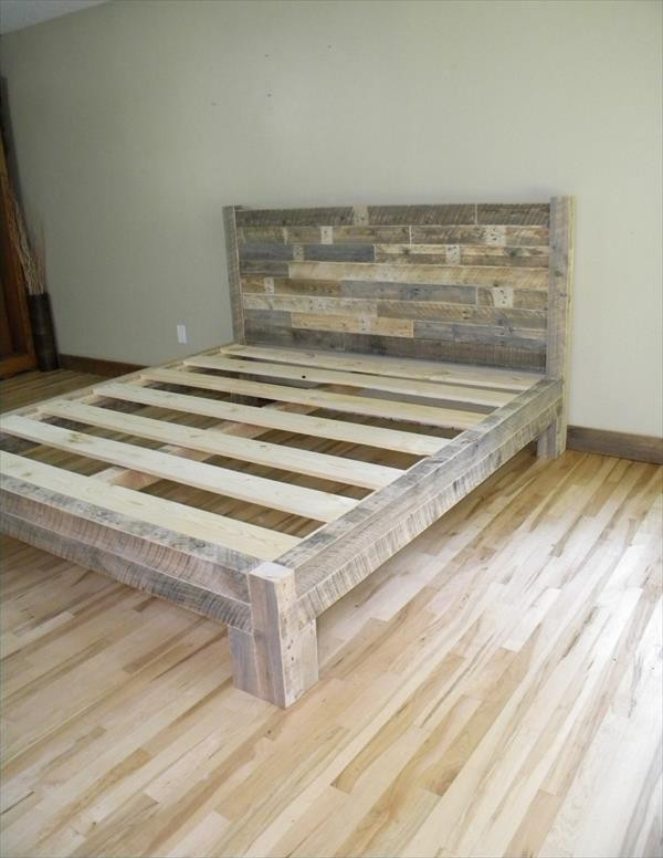 Best ideas about DIY King Bed Frame Plans . Save or Pin DIY Pallet King Size Bed Now.