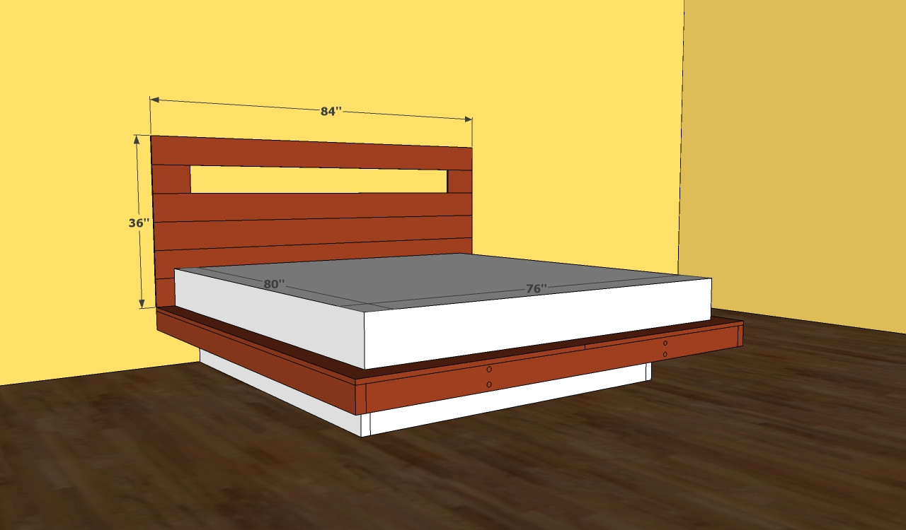 Best ideas about DIY King Size Bed Frame Plans . Save or Pin King Bed Frame Plans Now.