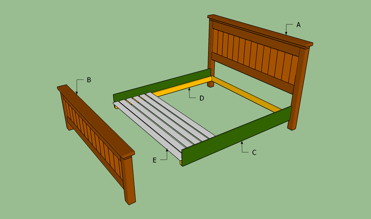 Best ideas about DIY King Size Bed Frame Plans . Save or Pin How to build a king size bed frame Now.