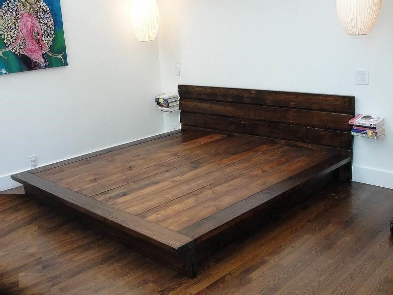 Best ideas about DIY King Size Bed Frame Plans . Save or Pin DIY King Platform Bed Frame woodworking Now.