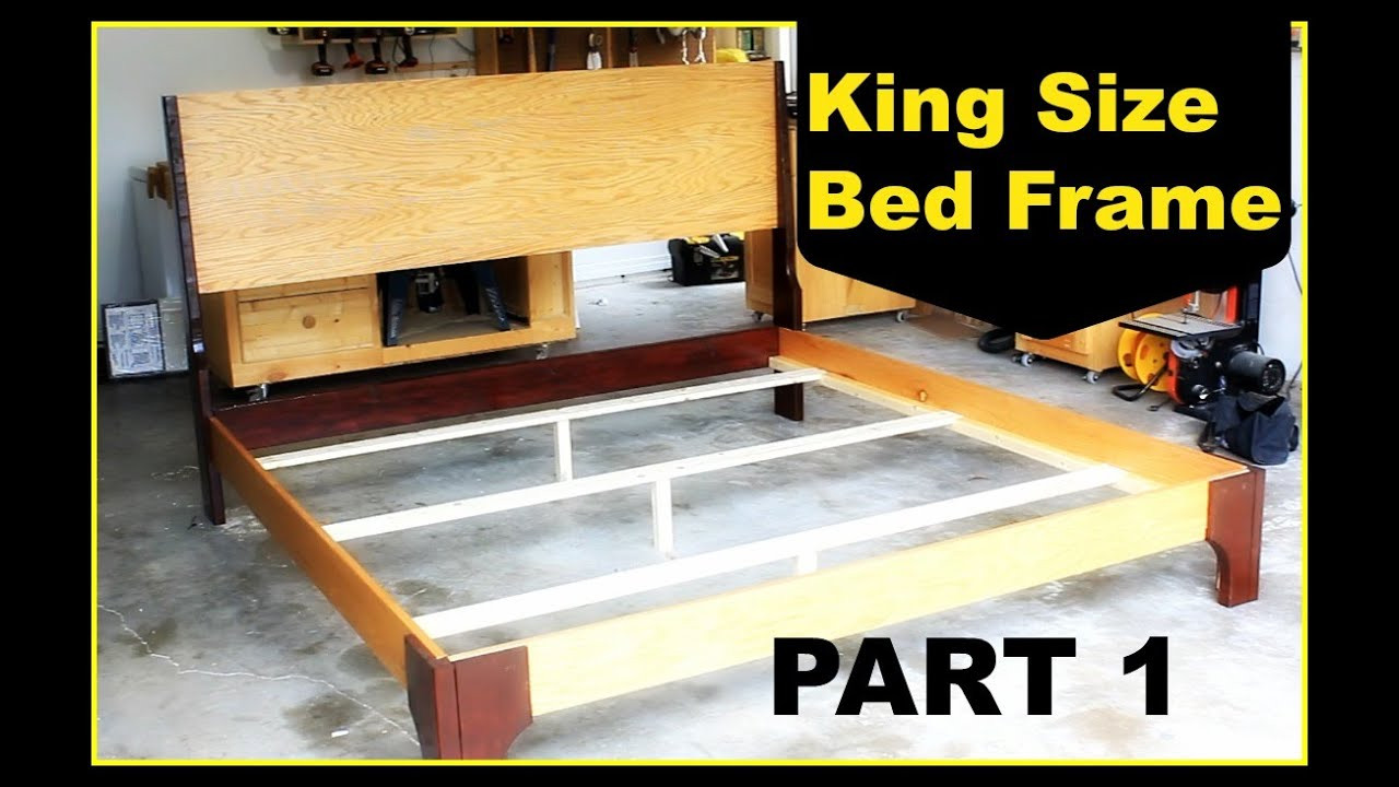 Best ideas about DIY King Size Bed Frame Plans . Save or Pin DIY King Size Bed Frame Part 1 Now.