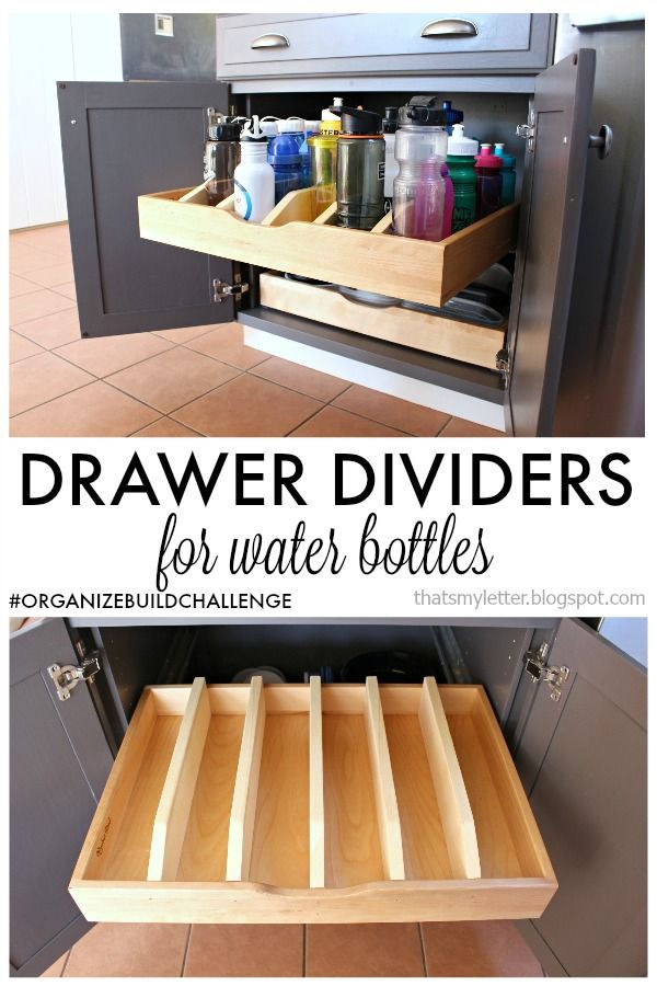 Best ideas about DIY Kitchen Cabinet Drawers . Save or Pin Best 25 Water bottle storage ideas on Pinterest Now.