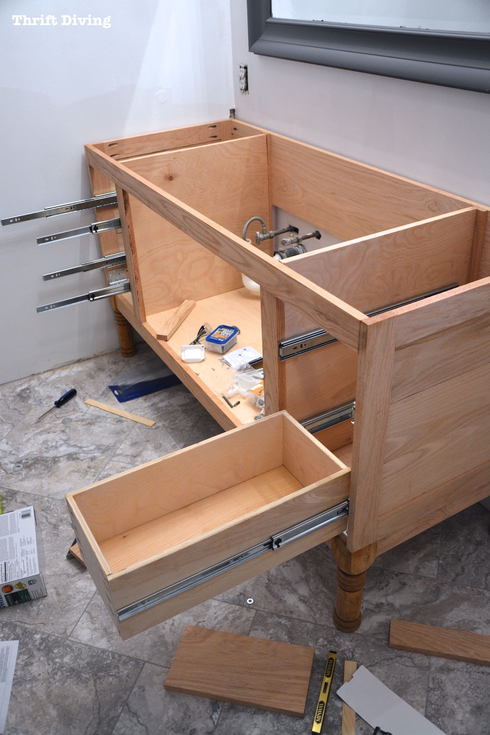 Best ideas about DIY Kitchen Cabinet Drawers . Save or Pin Build a DIY Bathroom Vanity Part 4 Making the Drawers Now.