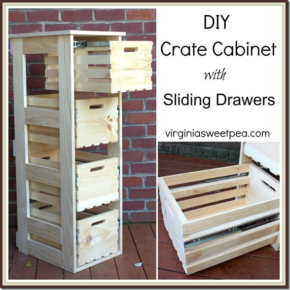 Best ideas about DIY Kitchen Cabinet Drawers . Save or Pin DIY Crate Cabinet with Sliding Drawers Sweet Pea Now.