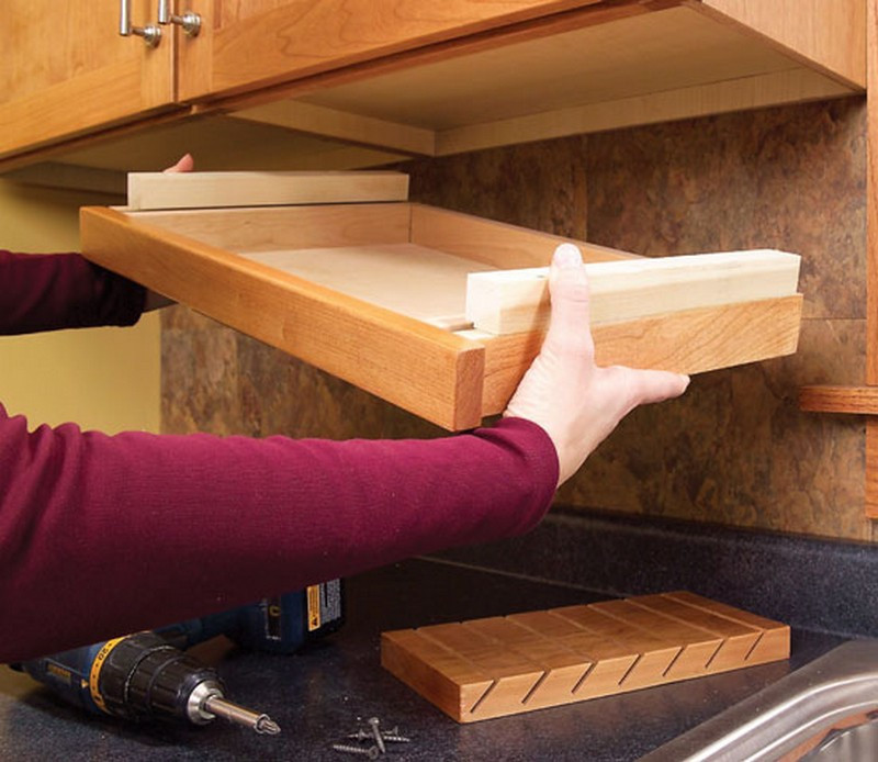 Best ideas about DIY Kitchen Cabinet Drawers . Save or Pin Clever Ideas For Storing Your Kitchen Knives Now.