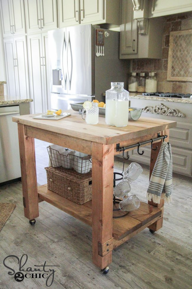 Best ideas about DIY Kitchen Cart . Save or Pin DIY Kitchen Island FREE Plans Now.