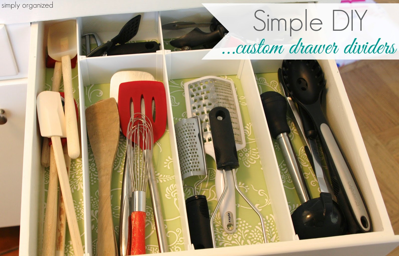 Best ideas about DIY Kitchen Drawer Dividers . Save or Pin simply organized DIY Custom Drawer Dividers Now.