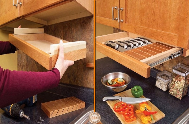 Best ideas about DIY Kitchen Drawers . Save or Pin Clever Ideas For Storing Your Kitchen Knives Now.