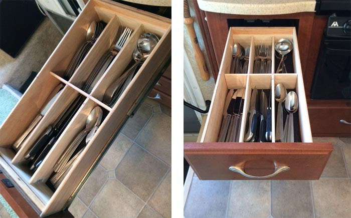 Best ideas about DIY Kitchen Drawers . Save or Pin DIY RV Kitchen Drawer Organizers for $10 Just a Little Now.
