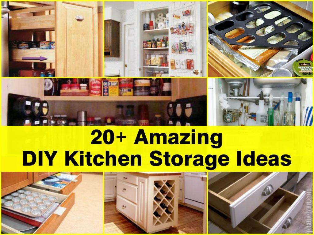 Best ideas about DIY Kitchen Idea . Save or Pin 20 Amazing DIY Kitchen Storage Ideas Now.