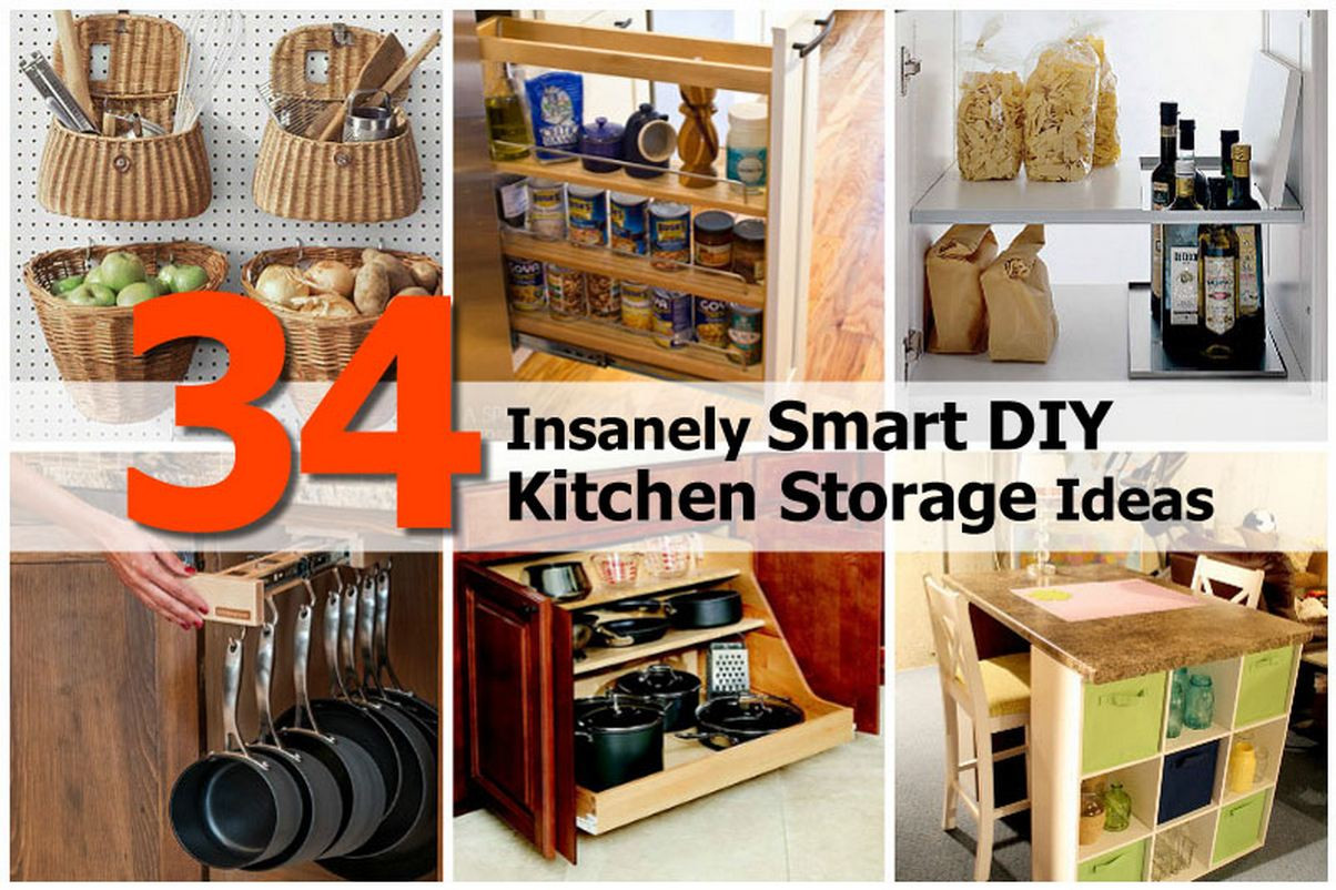 Best ideas about DIY Kitchen Idea . Save or Pin 34 Insanely Smart DIY Kitchen Storage Ideas Now.