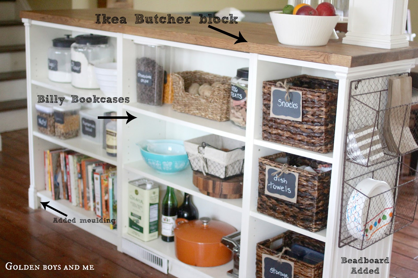 Best ideas about DIY Kitchen Island Ikea . Save or Pin Golden Boys and Me Kitchen Island Ikea Hack Now.