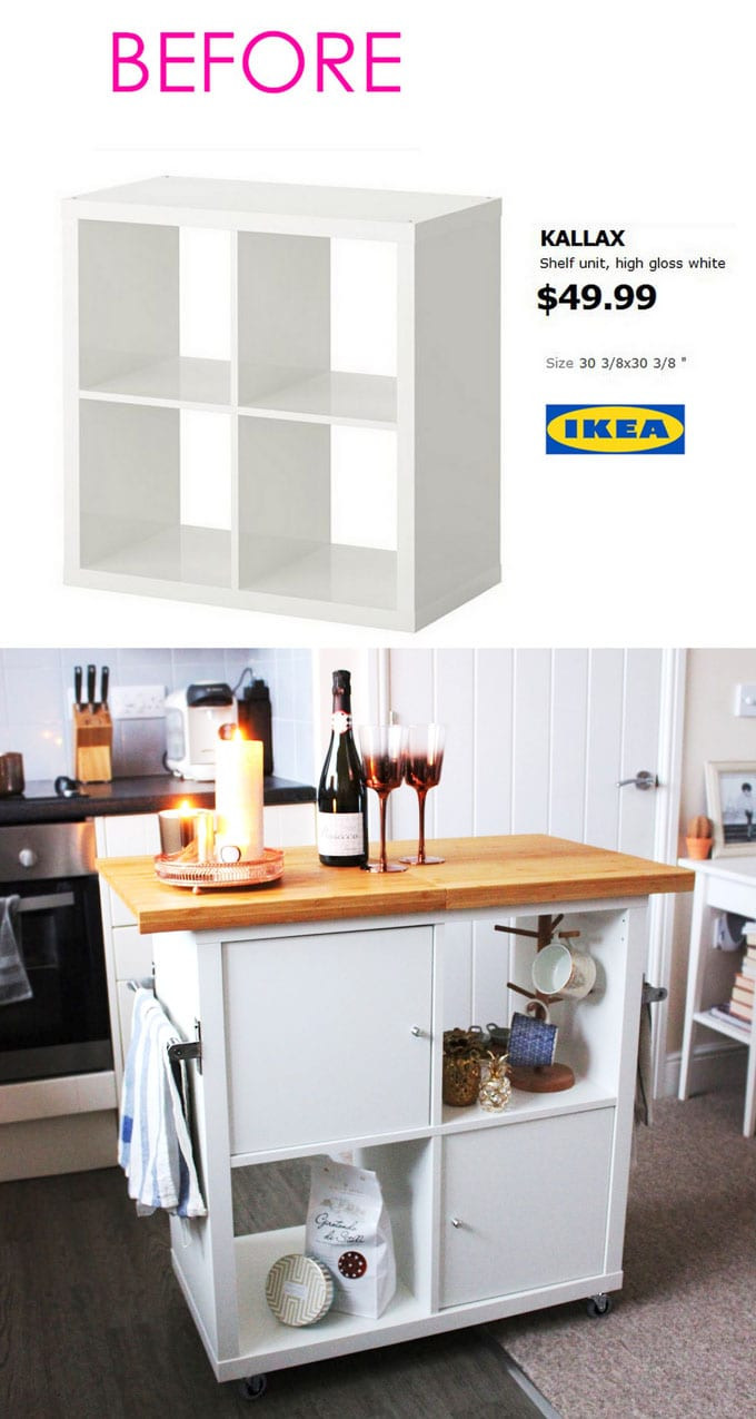 Best ideas about DIY Kitchen Island Ikea . Save or Pin 20 Smart and Gorgeous Ikea Hacks & Great Tutorials Now.