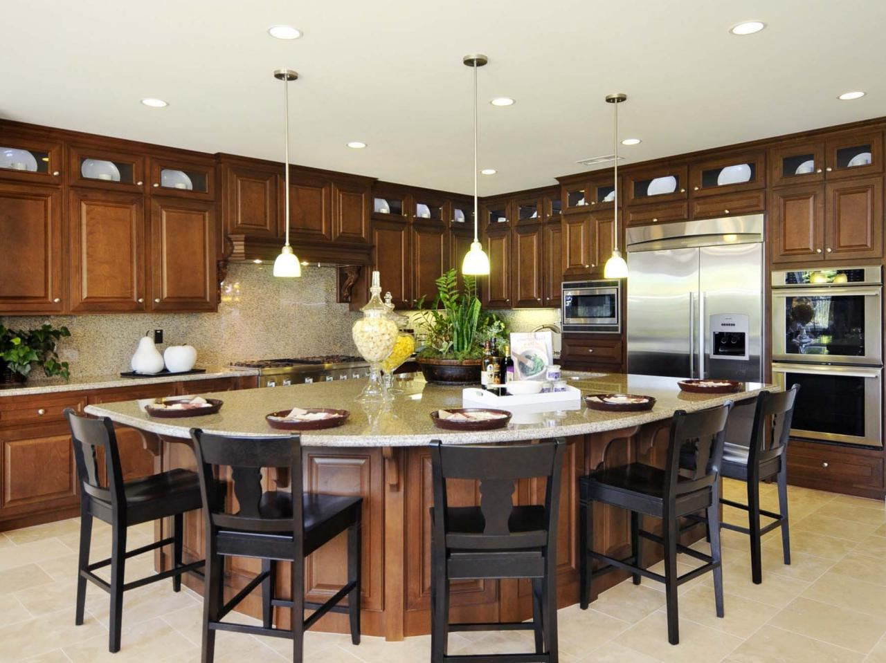 Best ideas about DIY Kitchen Island With Seating . Save or Pin Walnut wood dining chairs diy kitchen island with seating Now.