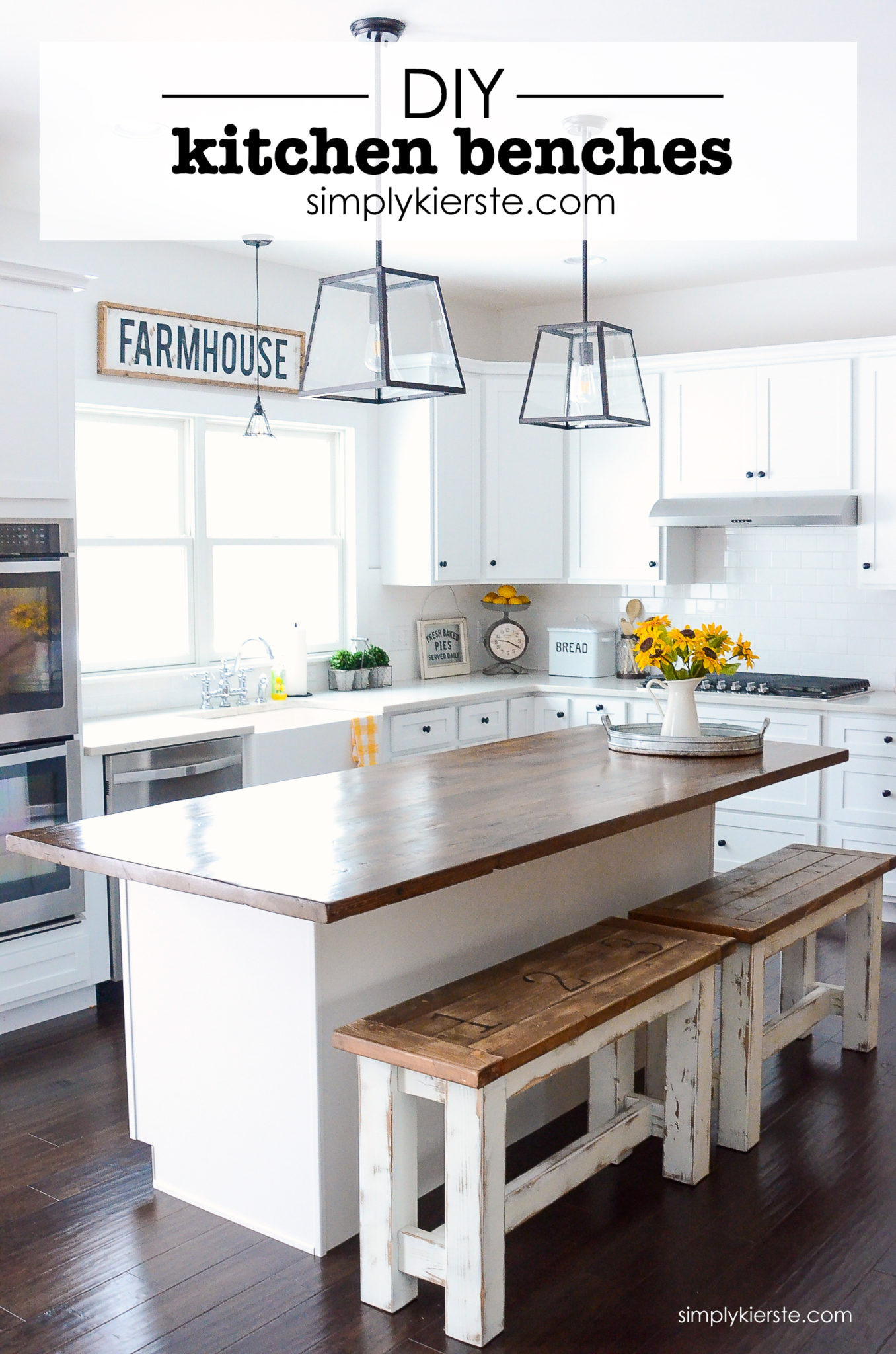 Best ideas about DIY Kitchen Island With Seating . Save or Pin DIY Kitchen Benches Simply Kierste Design Co Now.