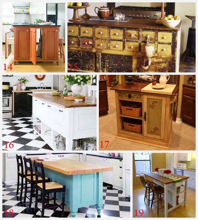 Best ideas about DIY Kitchen Islands Ideas . Save or Pin Kitchen Island Ideas Decorating and DIY Projects Now.