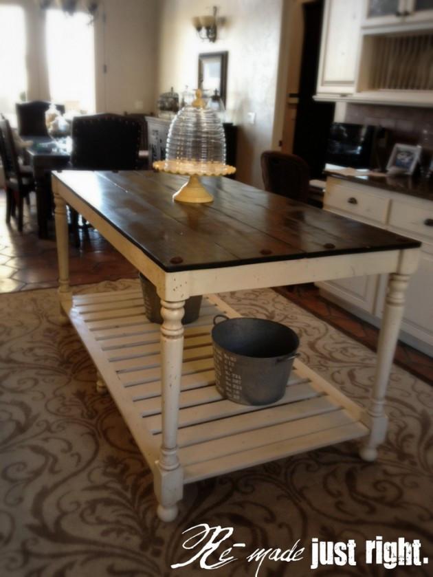 Best ideas about DIY Kitchen Islands Ideas . Save or Pin 30 Rustic DIY Kitchen Island Ideas Now.