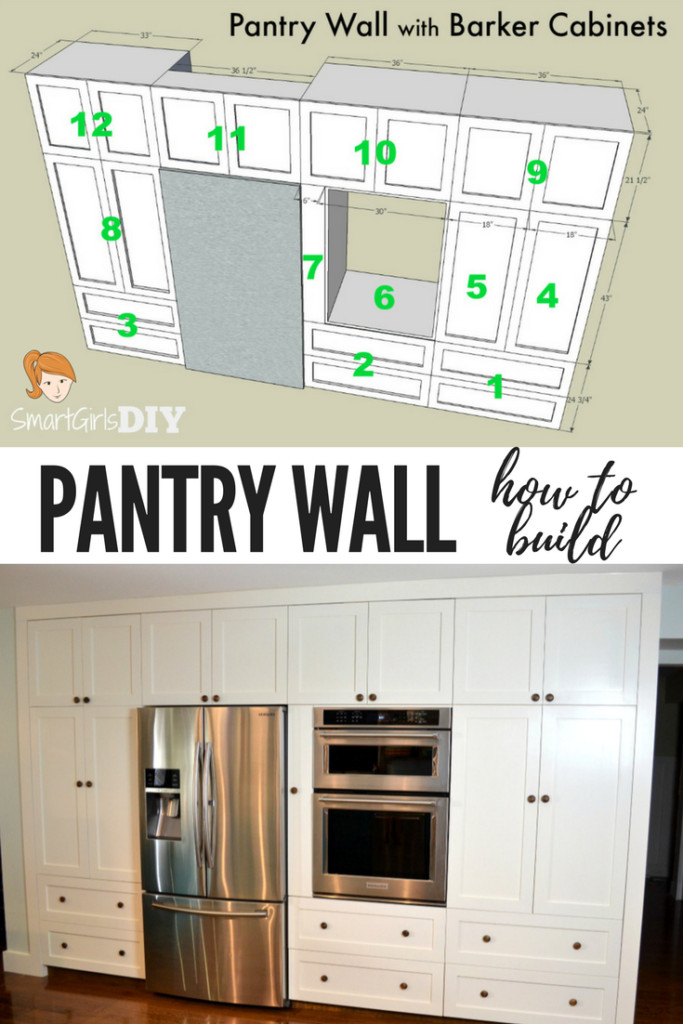 Best ideas about DIY Kitchen Pantry Cabinet . Save or Pin How to Build a Pantry Wall with Barker Cabinets Now.