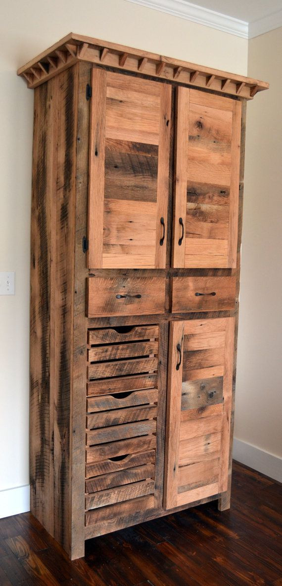 Best ideas about DIY Kitchen Pantry Cabinet . Save or Pin Reclaimed Barnwood Pantry Cabinet Now.