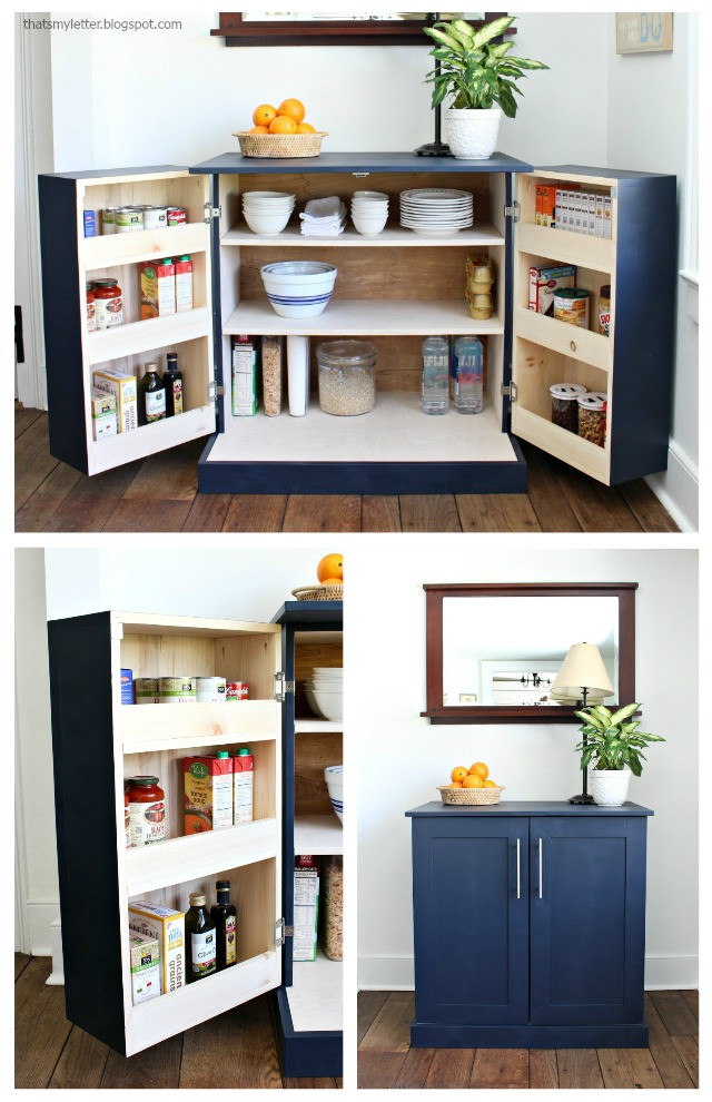 Best ideas about DIY Kitchen Pantry Cabinet . Save or Pin That s My Letter DIY Freestanding Kitchen Pantry Cabinet Now.