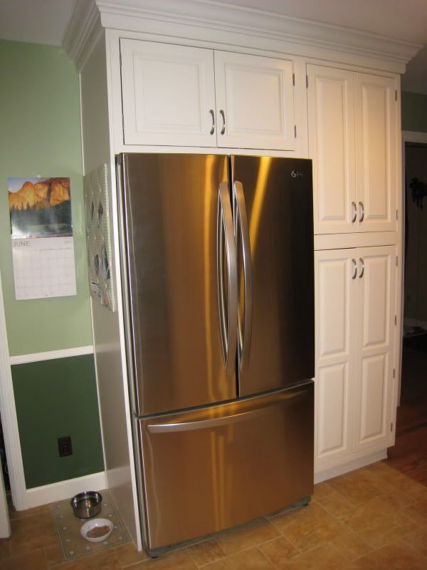Best ideas about DIY Kitchen Pantry Cabinet . Save or Pin kitchen cabinets around refriagerator Now.