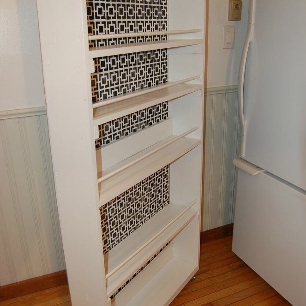 Best ideas about DIY Kitchen Pantry . Save or Pin DIY space saving rolling kitchen pantry Now.