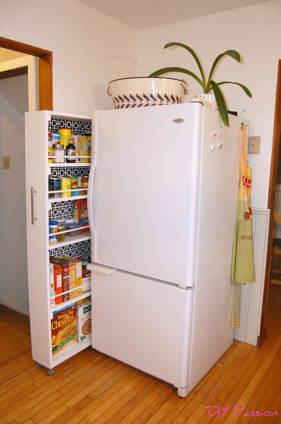 Best ideas about DIY Kitchen Pantry . Save or Pin Small Space Storage Solution DIY Rolling Pantry Tutorial Now.