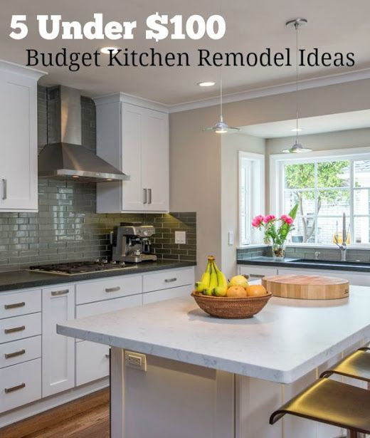 Best ideas about DIY Kitchen Remodel On A Budget . Save or Pin 5 Bud Kitchen Remodel Ideas Under $100 You Can DIY Now.