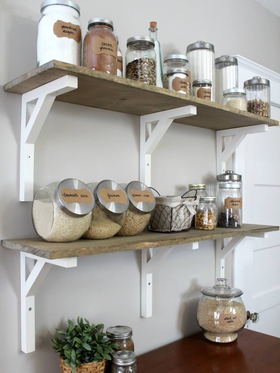 Best ideas about DIY Kitchen Shelving Ideas . Save or Pin 23 DIY Shelves Furniture Designs Ideas Plans Now.