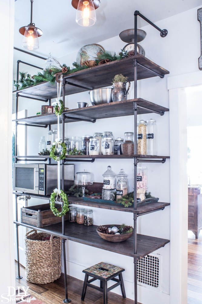 Best ideas about DIY Kitchen Shelving Ideas . Save or Pin 17 Easy DIY Shelving Ideas – Cool Homemade Organization Now.