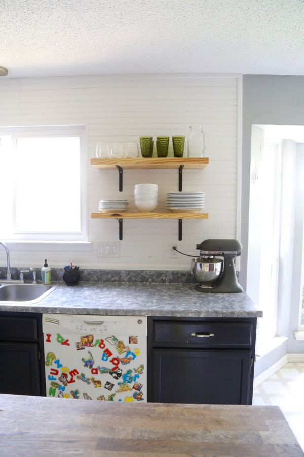 Best ideas about DIY Kitchen Shelving Ideas . Save or Pin Airy Looking DIY Kitchen Open Shelving Shelterness Now.