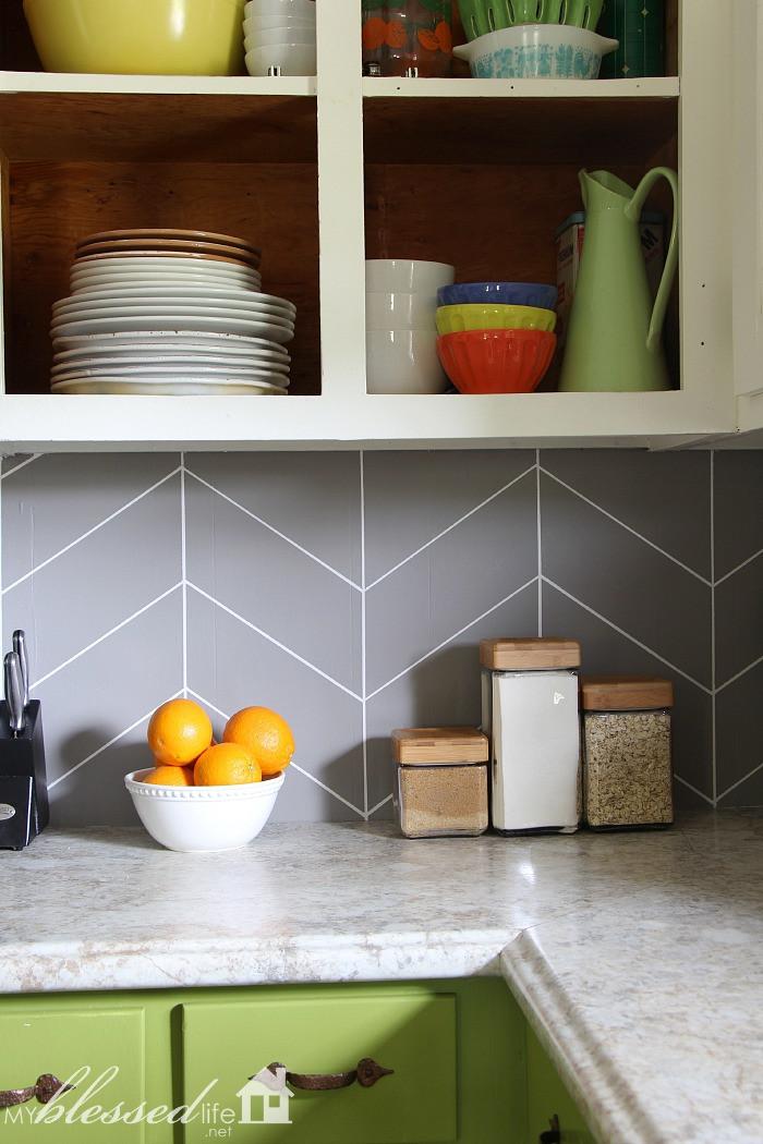 Best ideas about DIY Kitchen Tiling . Save or Pin DIY Herringbone Tile Backsplash Now.