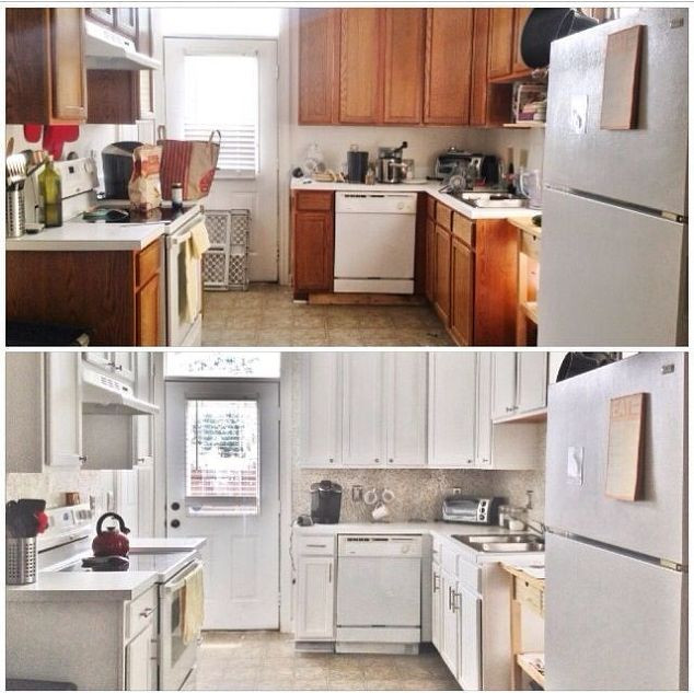 Best ideas about DIY Kitchen Updates . Save or Pin Before & After $387 Bud Kitchen Update Now.