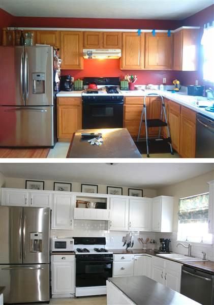 Best ideas about DIY Kitchen Updates . Save or Pin See what this kitchen looks like after an $800 DIY Now.