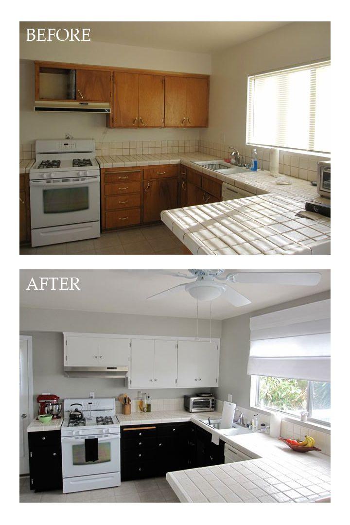 Best ideas about DIY Kitchen Updates . Save or Pin DIY kitchen update Light upper dark lower cabinets Now.