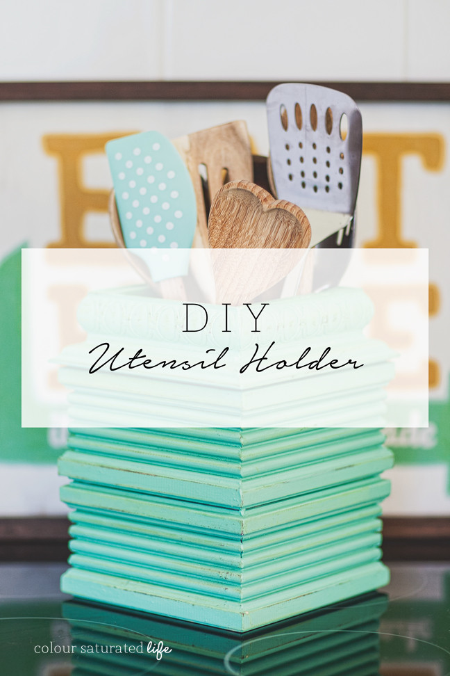 Best ideas about DIY Kitchen Utensil Holder . Save or Pin DIY Upcycled Utensil Holder Home Made By Carmona Now.