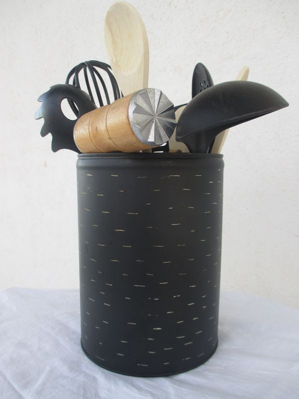 Best ideas about DIY Kitchen Utensil Holder . Save or Pin DIY Utensil Holder really cool project Now.