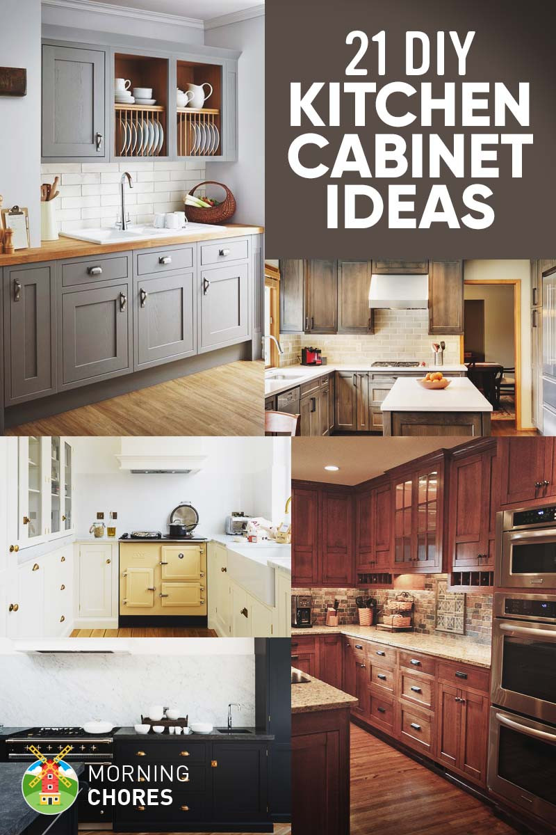 Best ideas about DIY Kitchens Ideas . Save or Pin 21 DIY Kitchen Cabinets Ideas & Plans That Are Easy Now.
