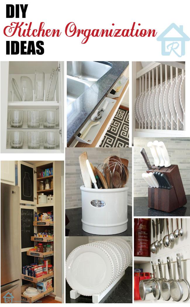Best ideas about DIY Kitchens Ideas . Save or Pin DIY Kitchen Organization Ideas Remodelando la Casa Now.