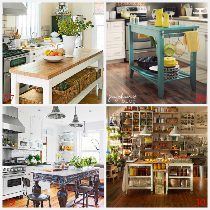 Best ideas about DIY Kitchens Ideas . Save or Pin Kitchen Island Ideas Decorating and DIY Projects Now.