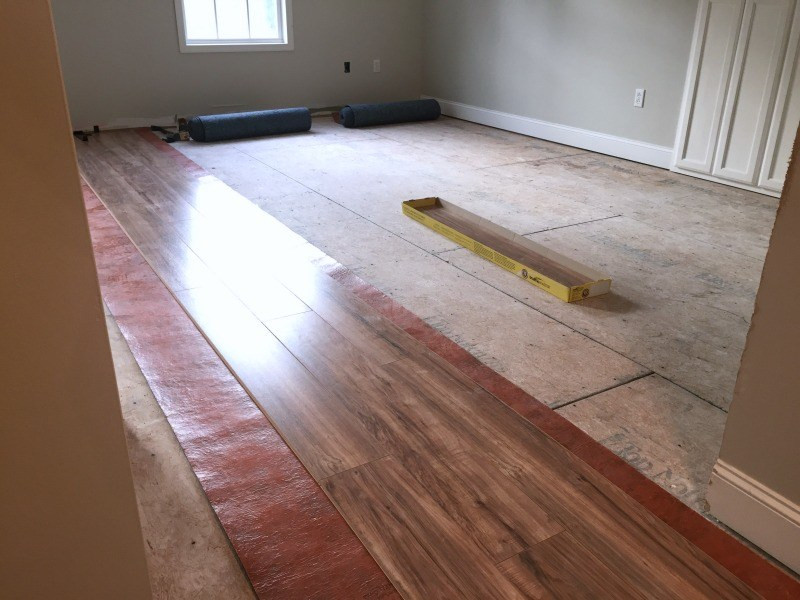 Best ideas about DIY Laminate Floor Install . Save or Pin DIY Laminate Floor Installation Our Alabama Life Now.