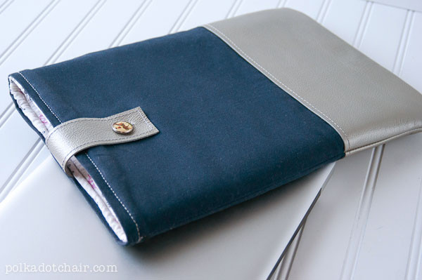 Best ideas about DIY Laptop Sleeve . Save or Pin DIY Leather Laptop Sleeve the Polka Dot Chair Now.